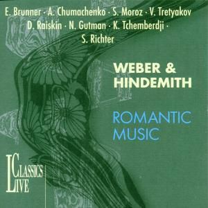 Weber & Hindemith-romantic Mus, Brunner, Richter, Gutman