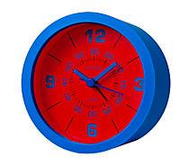 Wecker mit 3 Silikonhüllen zum Wechseln (Farbe: rot/blau/schwarz) - Produktdetailbild 1