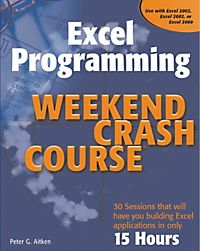 excel programming weekend crash course 2007 pdf
