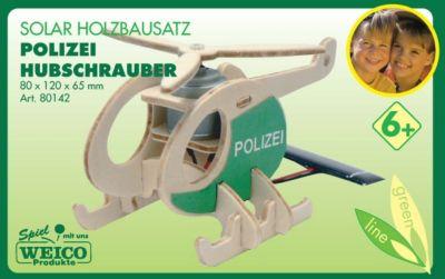 Weico Holzbausatz Solarantrieb Polizeihubschrauber