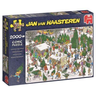 Weihnachtsbaummarkt (Puzzle), Jan van Haasteren