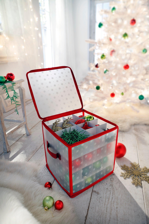 Aufbewahrung Weihnachtskugeln.Weihnachtskugel Organizer Für 64 Kugeln Bestellen Weltbild De