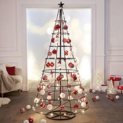 Weihnachtsbaumschmuck Anhänger 6 tlg Set Weihnachtsdeko Weihnachtssocke Rot Neu