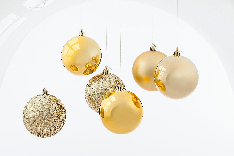 Weihnachtskugeln, Gold, 6er-Set jetzt bei Weltbild.de bestellen