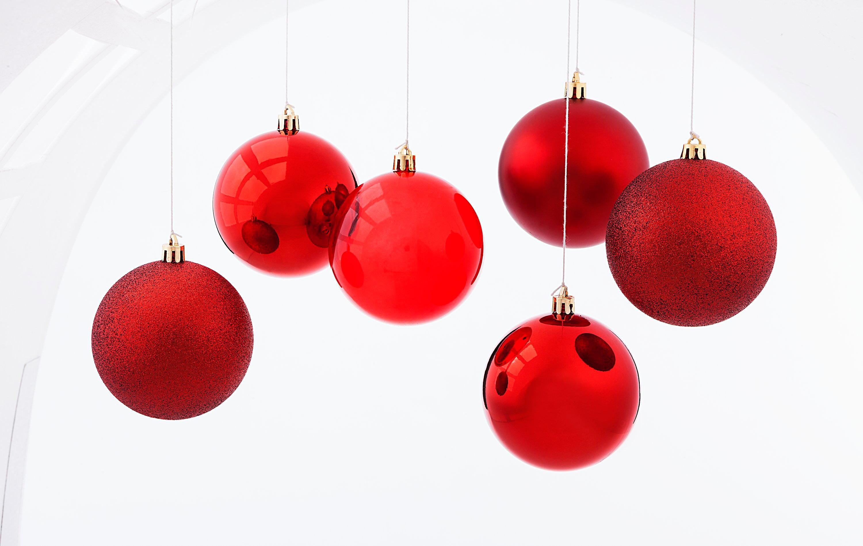 Weihnachtskugeln, Rot, 6er-Set jetzt bei Weltbild.de bestellen