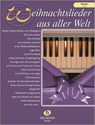 Weihnachtslieder aus aller Welt, für Klavier - leicht, Uwe Sieblitz