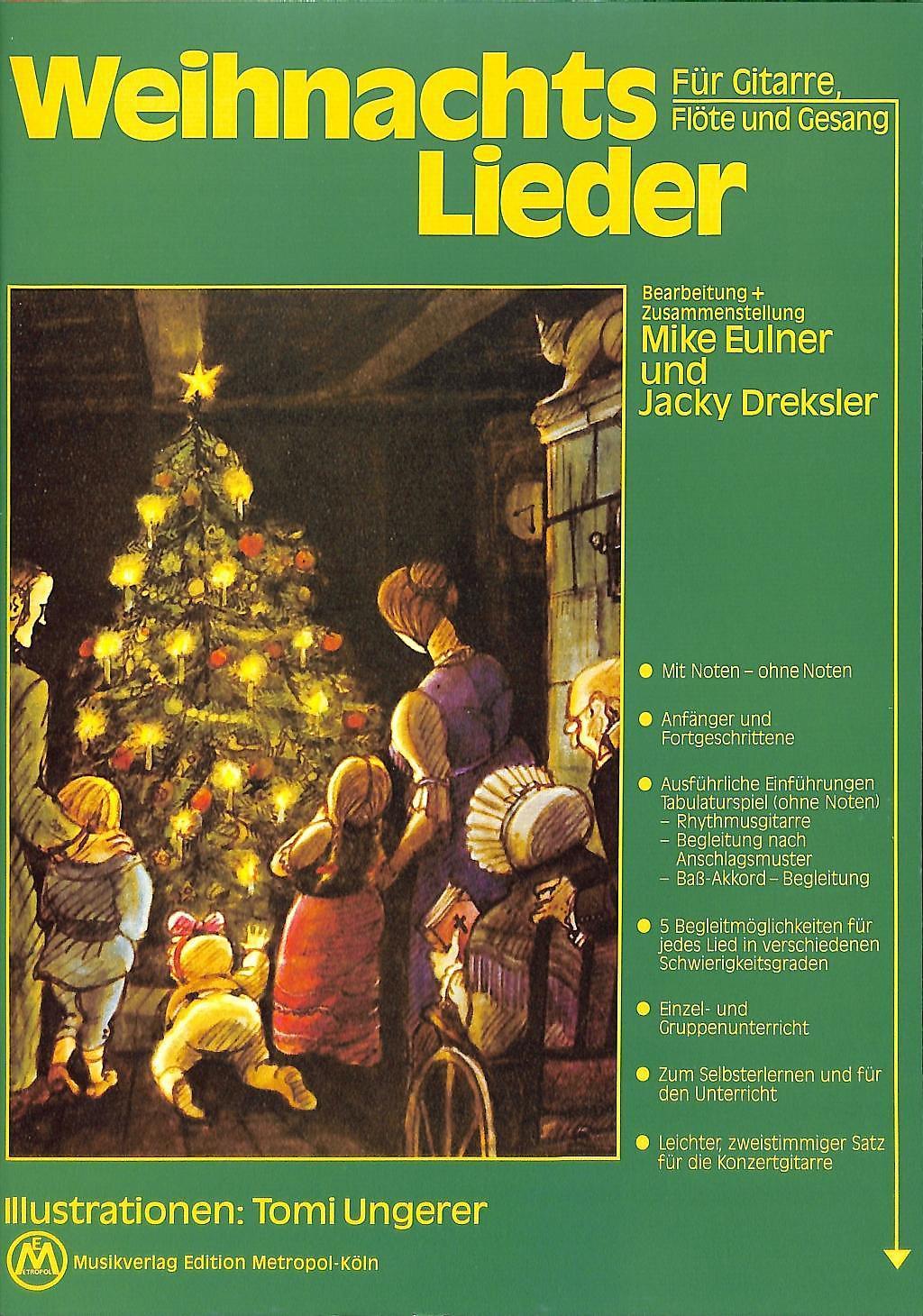 Weihnachtslieder für Gitarre, Flöte und Gesang Buch portofrei