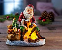Weihnachtsmann mit LED-Lagerfeuer - Produktdetailbild 1