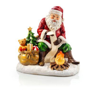 Weihnachtsmann mit LED-Lagerfeuer