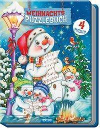 Weihnachtspuzzlebuch Schneemann Spielbuch mit Geschichten