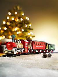 Weihnachtszug mit Licht und Sound, 13-tlg. - Produktdetailbild 1