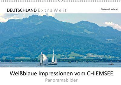 Weißblaue Impressionen vom CHIEMSEE Panoramabilder (Wandkalender 2019 DIN A2 quer), Dieter-M. Wilczek