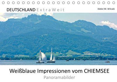 Weissblaue Impressionen vom CHIEMSEE Panoramabilder (Tischkalender 2019 DIN A5 quer), Dieter-M. Wilczek