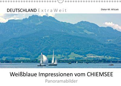 Weißblaue Impressionen vom CHIEMSEE Panoramabilder (Wandkalender 2019 DIN A3 quer), Dieter-M. Wilczek