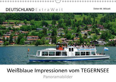 Weißblaue Impressionen vom TEGERNSEE Panoramabilder (Wandkalender 2019 DIN A3 quer), Dieter-M. Wilczek