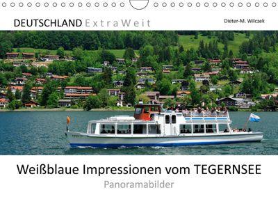 Weißblaue Impressionen vom TEGERNSEE Panoramabilder (Wandkalender 2019 DIN A4 quer), Dieter-M. Wilczek