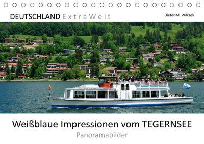 Weissblaue Impressionen vom TEGERNSEE Panoramabilder (Tischkalender 2019 DIN A5 quer), Dieter-M. Wilczek
