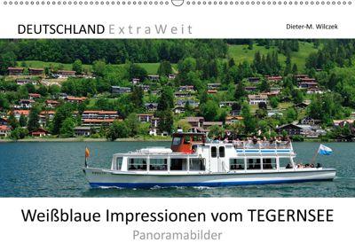 Weißblaue Impressionen vom TEGERNSEE Panoramabilder (Wandkalender 2019 DIN A2 quer), Dieter-M. Wilczek