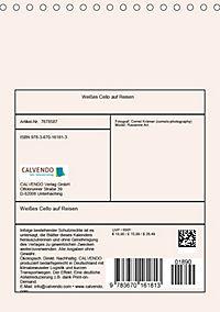 Weisses Cello auf Reisen (Tischkalender 2019 DIN A5 hoch) - Produktdetailbild 13