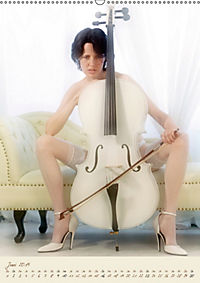 Weißes Cello auf Reisen (Wandkalender 2019 DIN A2 hoch) - Produktdetailbild 6