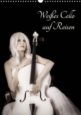 Weisses Cello auf Reisen (Wandkalender 2019 DIN A3 hoch), Ravienne Art