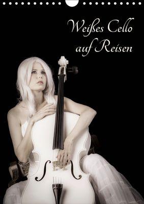 Weißes Cello auf Reisen (Wandkalender 2019 DIN A4 hoch), Ravienne Art