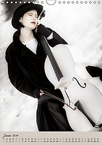 Weißes Cello auf Reisen (Wandkalender 2019 DIN A4 hoch) - Produktdetailbild 1