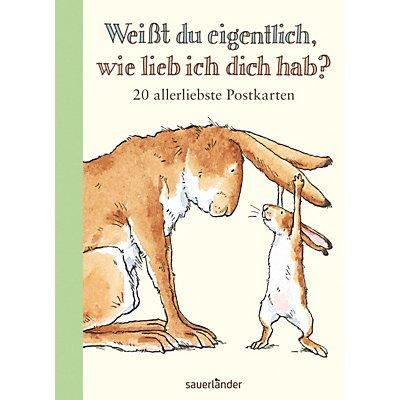 weisst du eigentlich, wie lieb ich dich hab? postkartenbuch | weltbild.ch