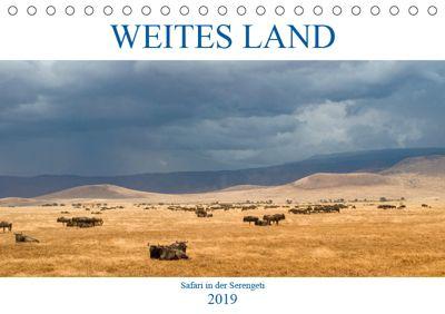 Weites Land - Safari in der Serengeti (Tischkalender 2019 DIN A5 quer), Oliver Schulz