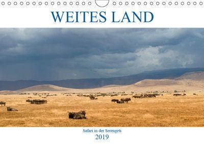 Weites Land - Safari in der Serengeti (Wandkalender 2019 DIN A4 quer), Oliver Schulz