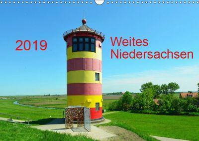 Weites Niedersachsen (Wandkalender 2019 DIN A3 quer), Heinz Wösten