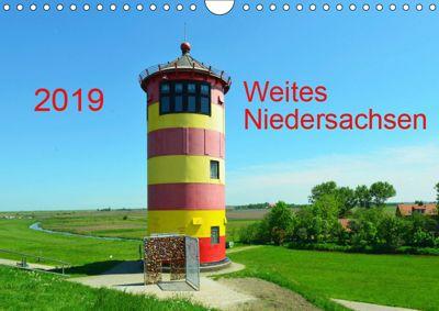 Weites Niedersachsen (Wandkalender 2019 DIN A4 quer), Heinz Wösten