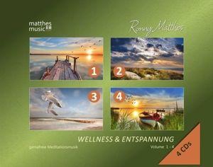 Wellness & Entspannung (Vol. 1-4 auf 4 CDs) - Gemafreie christliche Meditationsmusik, Ronny Matthes