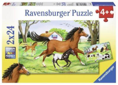 Welt der Pferde. Puzzle 2 x 24 Teile
