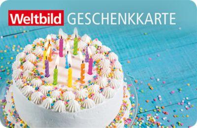 Weltbild Geschenkkarte Happy Birthday (Wert 100 Franken)