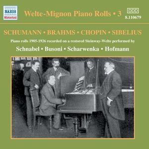 Welte-Mignon Piano Rolls Vol.3, Schnabel, Busoni, Scharwenka