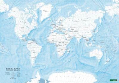 Weltkarte zum Ausmalen, Entdecke die Welt, Poster 1:40 Mio., Plano in Rolle