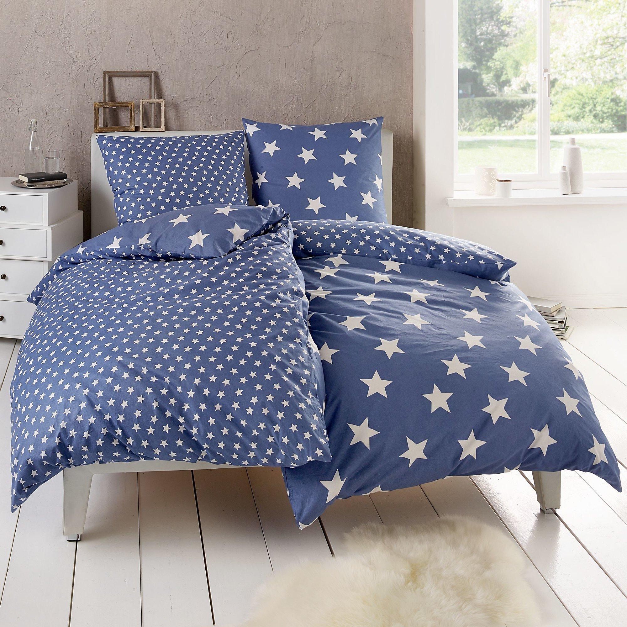 Wende Bettwäsche Sterne Blau 135x200 Bestellen Weltbildde