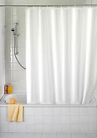Wenko Duschvorhang Uni Weiß 180 x 200 cm, waschbar - Produktdetailbild 1