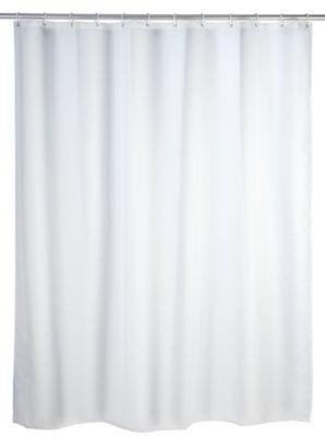 Wenko Duschvorhang Uni Weiß 180 x 200 cm, waschbar
