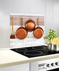 Wenko Glasrückwand Kupferpfannen, 60 x 50 cm - Produktdetailbild 4
