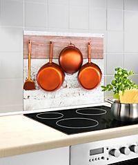 Wenko Glasrückwand Kupferpfannen, 60 x 50 cm - Produktdetailbild 1