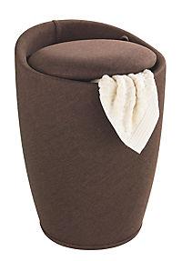Wenko Hocker Candy Brown Leinenoptik, Badhocker, mit abnehmbarem Wäschesack - Produktdetailbild 1