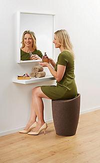 Wenko Hocker Candy Brown Leinenoptik, Badhocker, mit abnehmbarem Wäschesack - Produktdetailbild 3