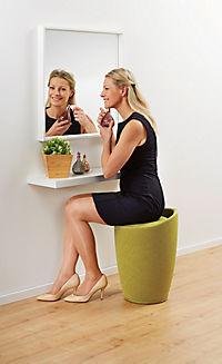Wenko Hocker Candy Green Leinenoptik, Badhocker, mit abnehmbarem Wäschesack - Produktdetailbild 3