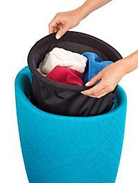 Wenko Hocker Candy Turquoise Leinenoptik, Badhocker, mit abnehmbarem Wäschesack - Produktdetailbild 2
