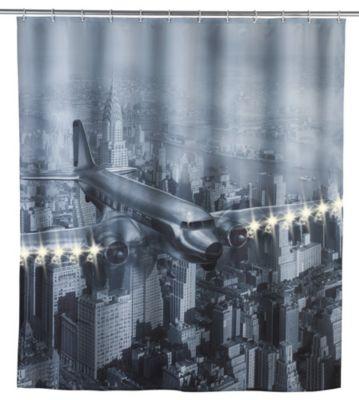 Wenko LED Duschvorhang Old Plane, waschbar