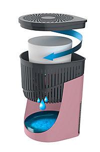 Wenko Raumentfeuchter Drop Rosa 1000 g - Produktdetailbild 2