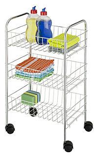Wenko Rollwagen Florenz mit 3 Ablagen - Produktdetailbild 2