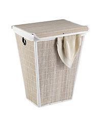 Wenko Wäschetruhe Bamboo Weiß, Wäschekorb, 55 l - Produktdetailbild 1